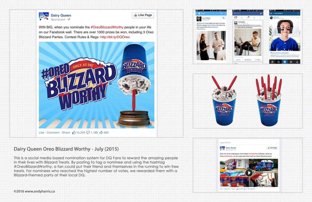 DQ Oreo Blizzard Worthy Splash Page